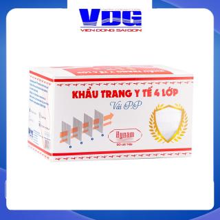 Khẩu trang y tế 4 lớp vải không dệt Hynam - (50 cái hộp) - Màu trắng thumbnail
