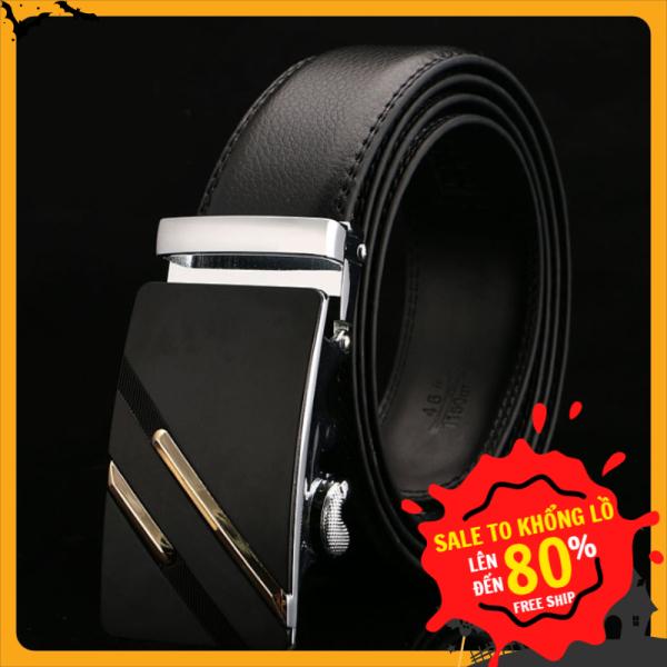 [HOT HOT-HOT] -Thắt lưng da nam cao cấp  M2, dây nịt nam da thật rộng 35mm khóa tự động mạ ti tan