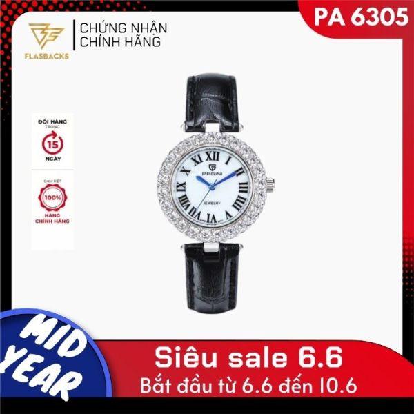 Nơi bán [Có bảo hành] Đồng Hồ Nữ Thương Hiệu PAGINI PA6305 - Thiết Kế Mặt Đính Đá Sang Trọng Quý Phái - Hàng Full Box