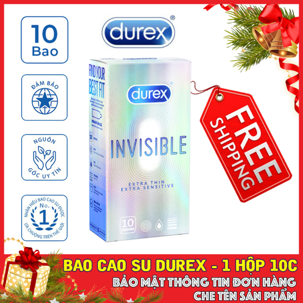 💝FREESHIP💝 Bao cao su Durex Invisible Extra Thin cực siêu mỏng 10s 💝 Che tên sản phẩm 💝