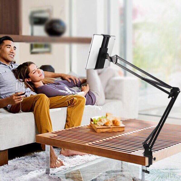 Giá đỡ iPad, máy tính bảng có chân kẹp đầu giường, cạnh bàn