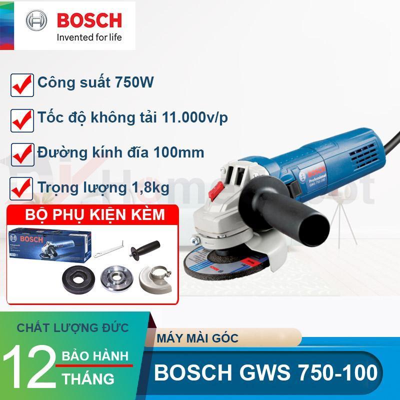 Máy mài góc Bosch GWS 750-100 Tặng đĩa cắt Bosch