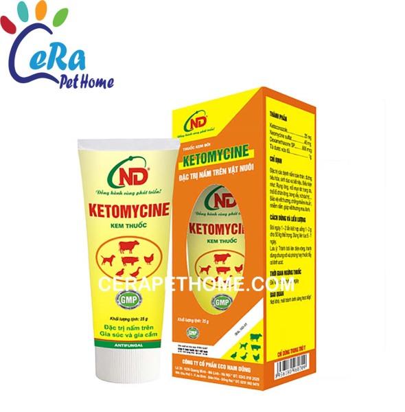 ĐT Nấm Da Trên Thú Cưng - Ketomycine 25g
