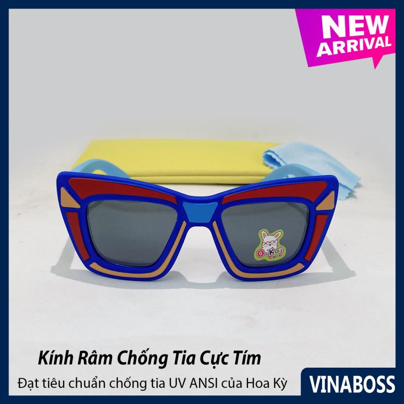 Giá bán Kính mát cao cấp chống tia UV dành cho bé trai siêu dễ thương VN1891 - Kính râm thời trang cho trẻ từ 1 tới 6 tuổi - Tặng kèm túi đựng + Khăn lau