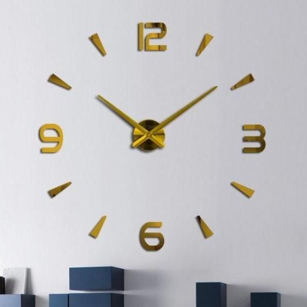 Nơi bán [Tặng PIN] Đồng hồ dán tường nổi 3D - 90cm - 120cm - 3 màu - Đồng hồ treo tường trang trí - Đồng hồ DIY - DH282