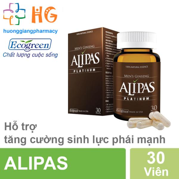 Sâm Alipas - Tăng cường sinh lực phái mạnh ( Hộp 30 Viên)