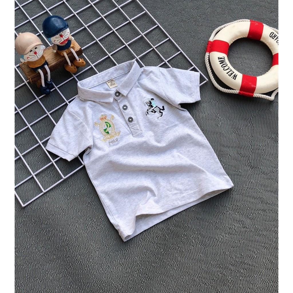 Áo thun cổ trụ cho bé trai size 10-60kg chất cotton 4 chiều mềm mịn mát