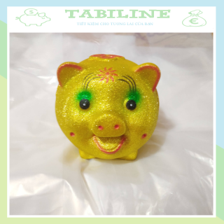 Lợn đất tiết kiệm đựng tiền size VỪA VIP KIM TUYẾN VÀNG cute đẹp giá rẻ TABILINE LD12 thumbnail