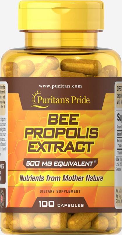 Big Sales 85% Off - Sáp ong Bee Propolis 500mg của Puritans Pride, HSD: 29/02/2020 cao cấp