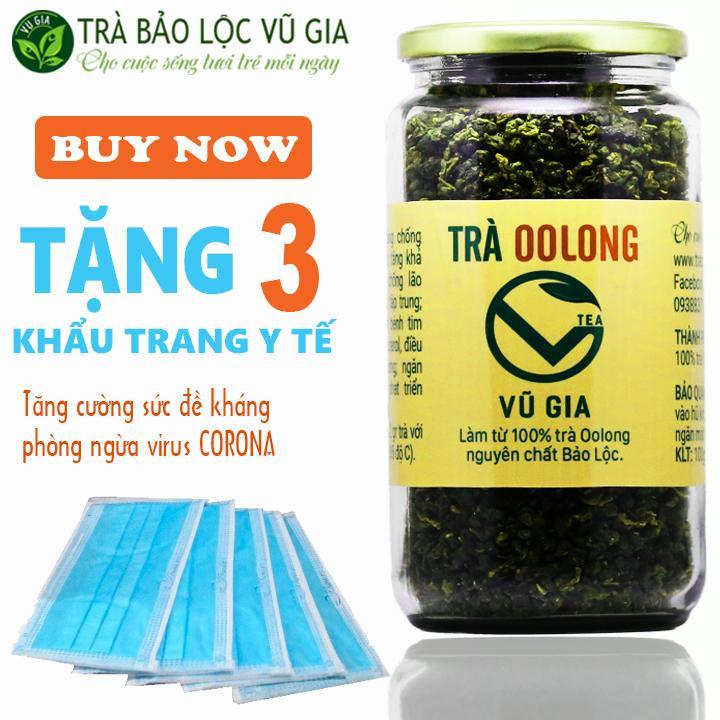Combo Trà Oolong Nguyên Chất Bảo Lộc VG Farm (400gr/hũ) - Điều trị bệnh đau dạ dày_[ Đã được kiểm nghiệm y tế ]
