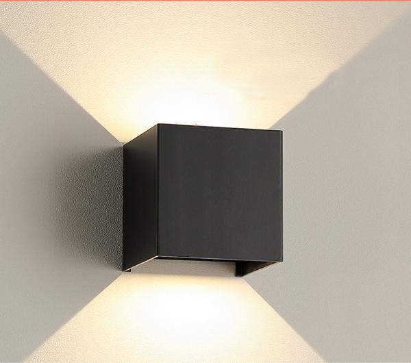 Đèn led tường hình vuông đơn giản hiện đại Bắc Âu trang trí ban công chống nước ngoài trời phòng tắm phòng ngủ đầu giường phòng khách 7098