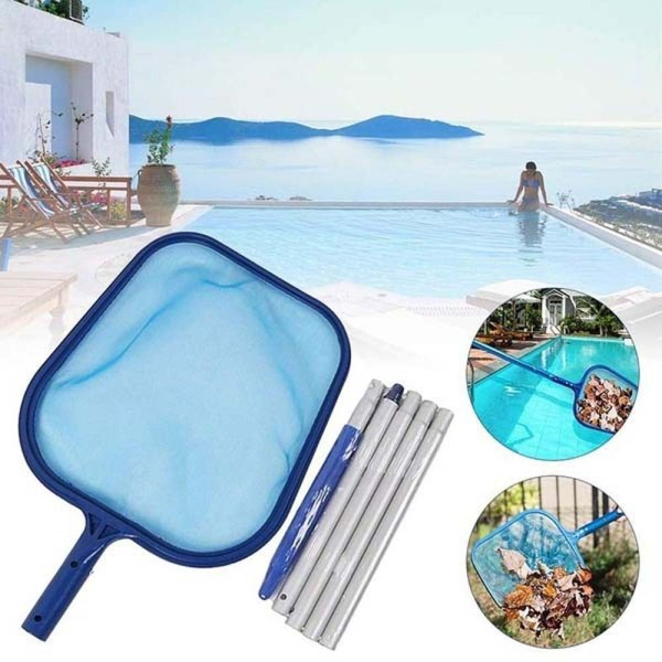 Portable Debris With Adjustable Telescopic Pole Rubbish Pond Maintenance Leaf Catcher Swimming Pool Cleaner Cleaning Net Pool Skimmer