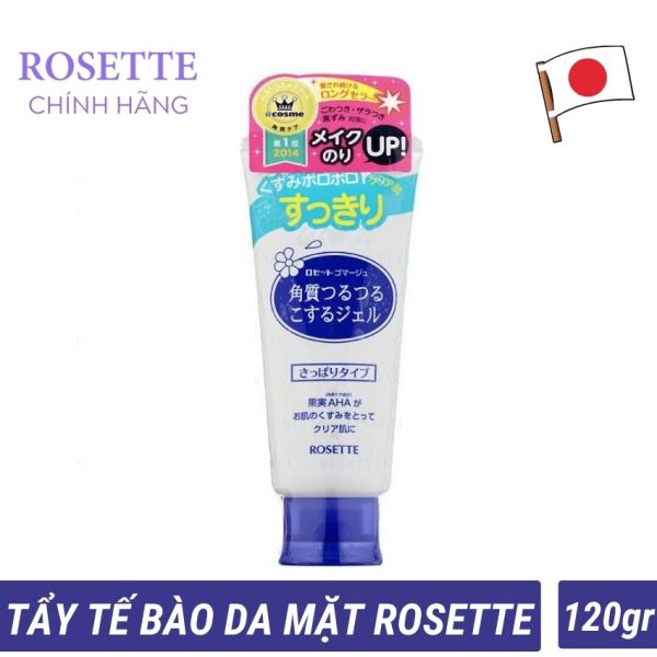 Tẩy tế bào chết da mặt ROSETTE Gommage Gentle cleansing gel dành cho mọi loại, sát khuẩn, giảm mụn thâm sạm tàn nhang  (120gram) nhập khẩu
