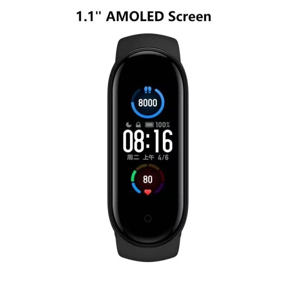 【FREESHIP XTRA】Đồng hồ thông minh Xiaomi Mi Band 5 / Vòng tay theo dõi sức khoẻ Miband 5 - Theo dõi nhịp tim - Thông báo tình trạng sức khỏe - Nhiều chế độ tập luyện thể thao - Chống nước - Màu đen - Mistore Việ