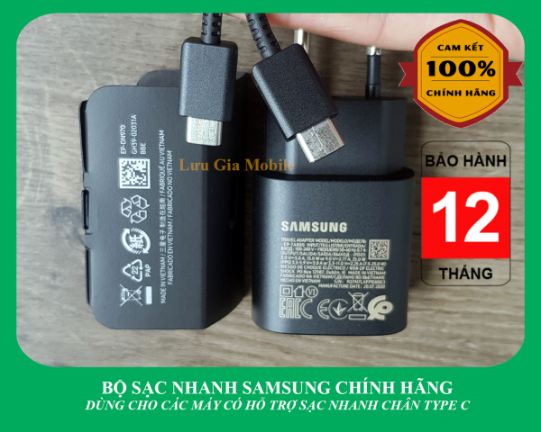 Bộ sạc nhanh Samsung Galaxy 25W công ty Note 10 Note 20 A71, A70, A80, A90, S20, S20FE S20+, S20 Ultra