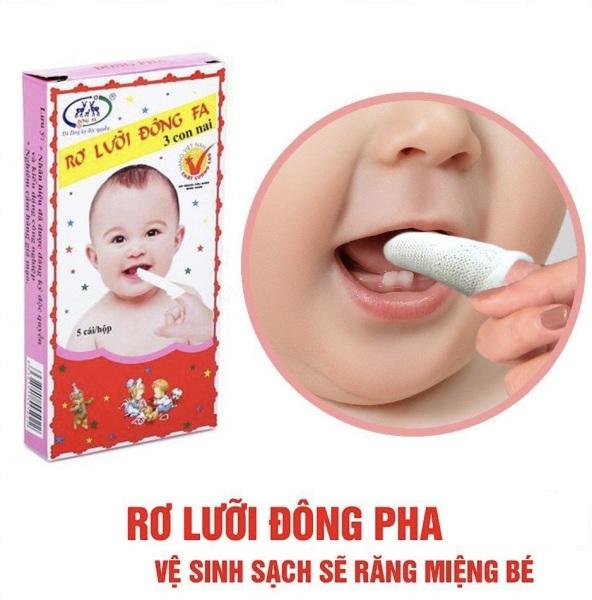 5 hộp rơ lưỡi Đông Fa cho bé sơ sinh, 5 cái/ 1 hộp ( 25 cái)