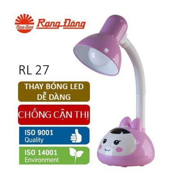 [Giao màu ngẫu nhiên] Đèn bàn bảo vệ thị lực LED Rạng Đông RL27 5W chống cận ánh sáng vàng (đèn học