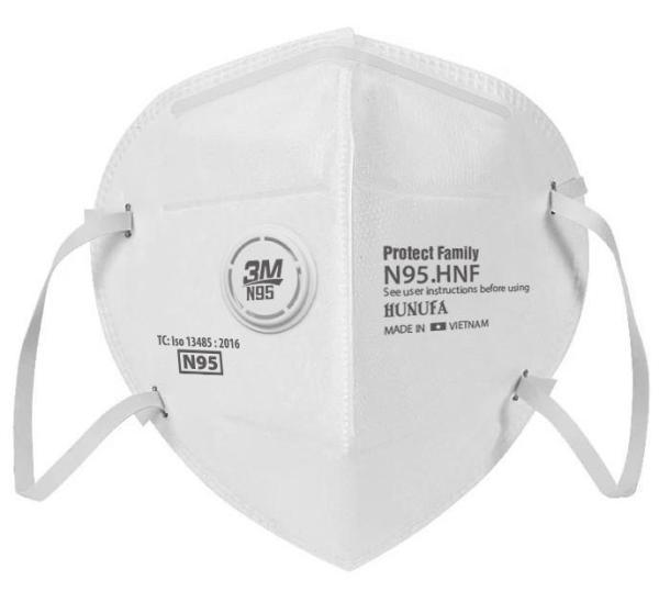 Khẩu Trang Kháng Khuẩn 3M N95 4 lớp Hiệu Quả Protect Family, Hộp 1 cái, Có Giấy Kiểm Định Của Bộ Y Tế/Face Mask 1 box 1pcs