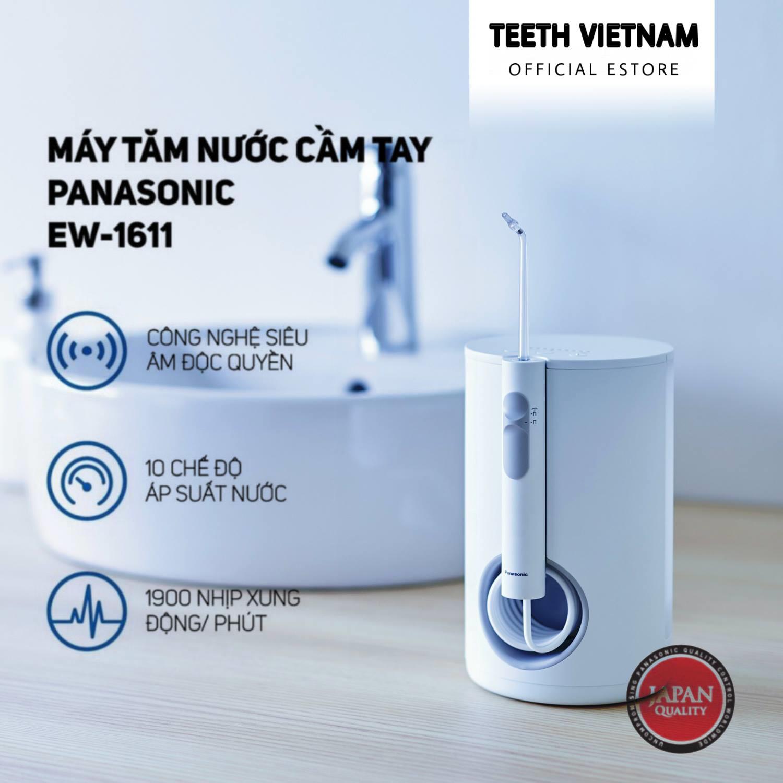 Máy Tăm Nước Cầm Tay Panasonic Công Nghệ Siêu Âm EW1611 - Bảo Hành 12 Tháng - Hàng Chính Hãng