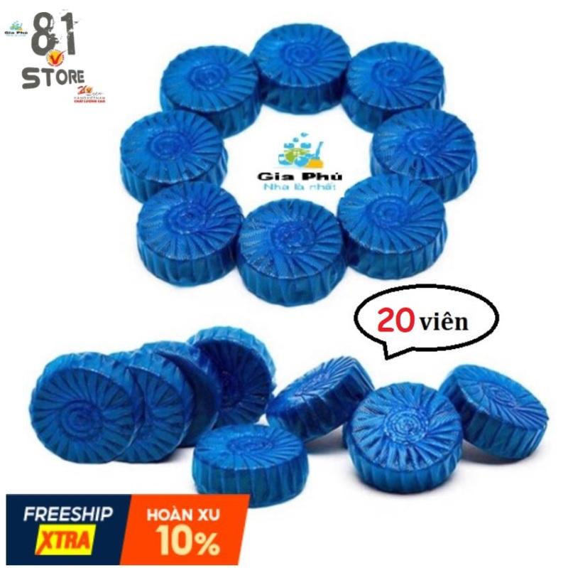 Bộ 20 viên tẩy diệt khuẩn khử mùi bồn cầu (xanh)