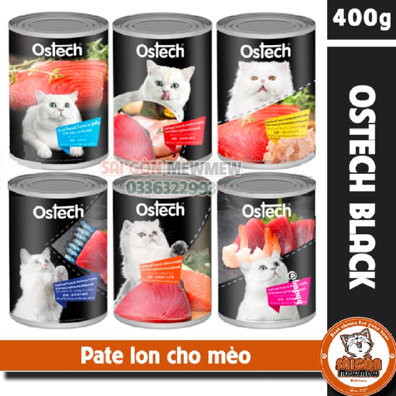 Pate lon cho mèo cao cấp Ostech Black Label 400gr
