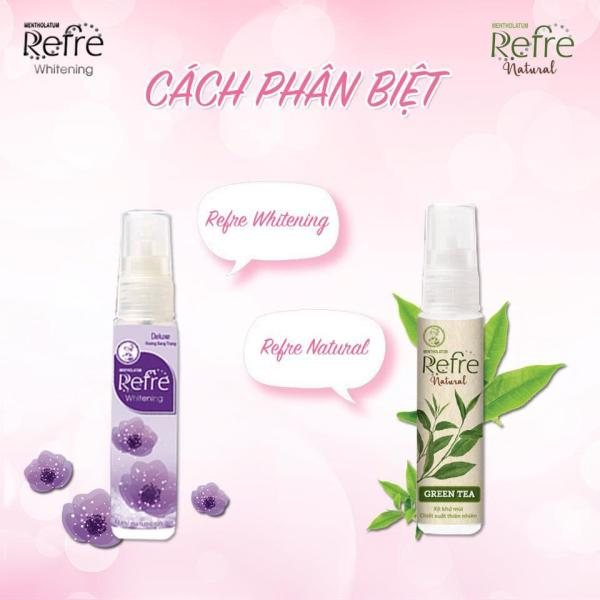 (HÀNG DÙNG THỬ ) Combo 4 Xịt khử mùi Refre Whitening/Natural -6ml