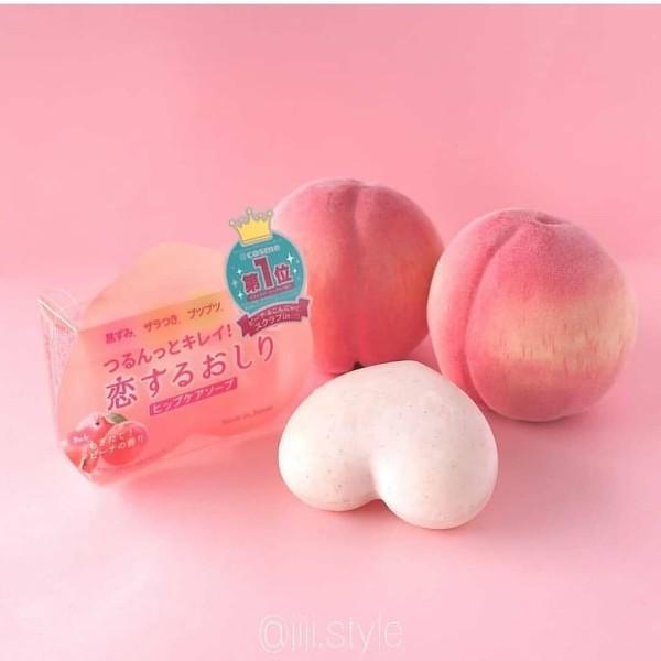 Xà bông trị thâm mông trái đàoPelican Hip Care Soap 80g Nhật Bản