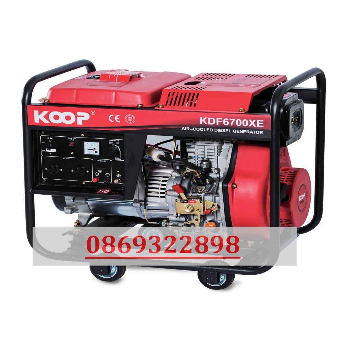 Máy phát điện nhật bản Koop 5.0kw KDF 6700X