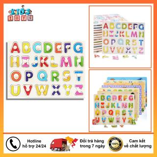 Bảng chữ cái, bảng núm gỗ xếp hình nhiều chủ đề chữ cái a-z, gỗ ván dày cao cấp, hình mẫu đẹp, đầy màu sắc, an toàn, đồ chơi thông minh phát triển tư duy cho bé. thumbnail