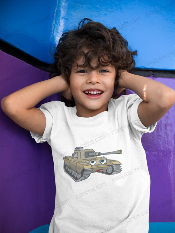 Giá bán thời trang cho bé-đồ mua hè cho bé-áo thun trẻ em đẹp-áo phông trẻ em-in hình xe tăng giá rẻ