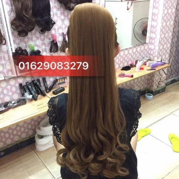 Tóc giả cột xoăn đuôi dài 65cm ❤️🎀FREESHIP❤️💕 tóc cột xoăn dài 65