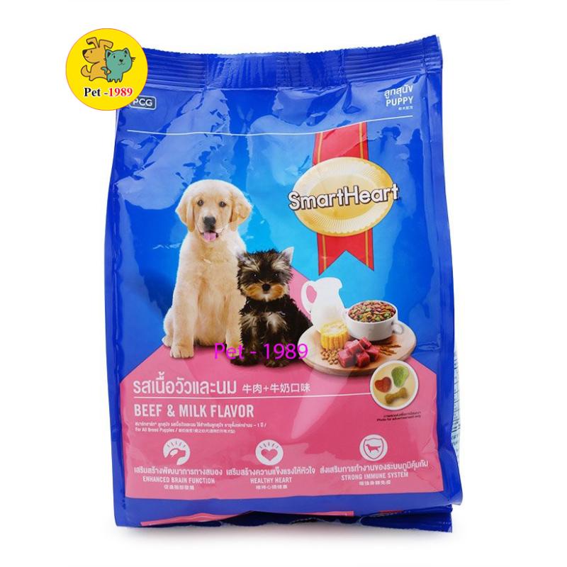 Thức ăn cho chó con Smartheart Puppy Vị Thịt Bò & Sữa 400g < Pet-1989 >