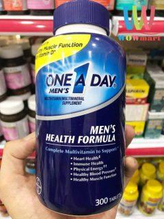 VIÊN UỐNG ONE A DAY MEN S HEALTH FORMULA 300 VIÊN CHÍNH HÃNG - DÀNH CHO NAM GIỚI DƯỚI 50 TUỔI - 7117 thumbnail