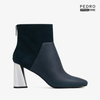 PEDRO - Giày boots nữ mũi nhọn cổ cao Leather With Sculptural Chrome PW1-15580022-21 thumbnail