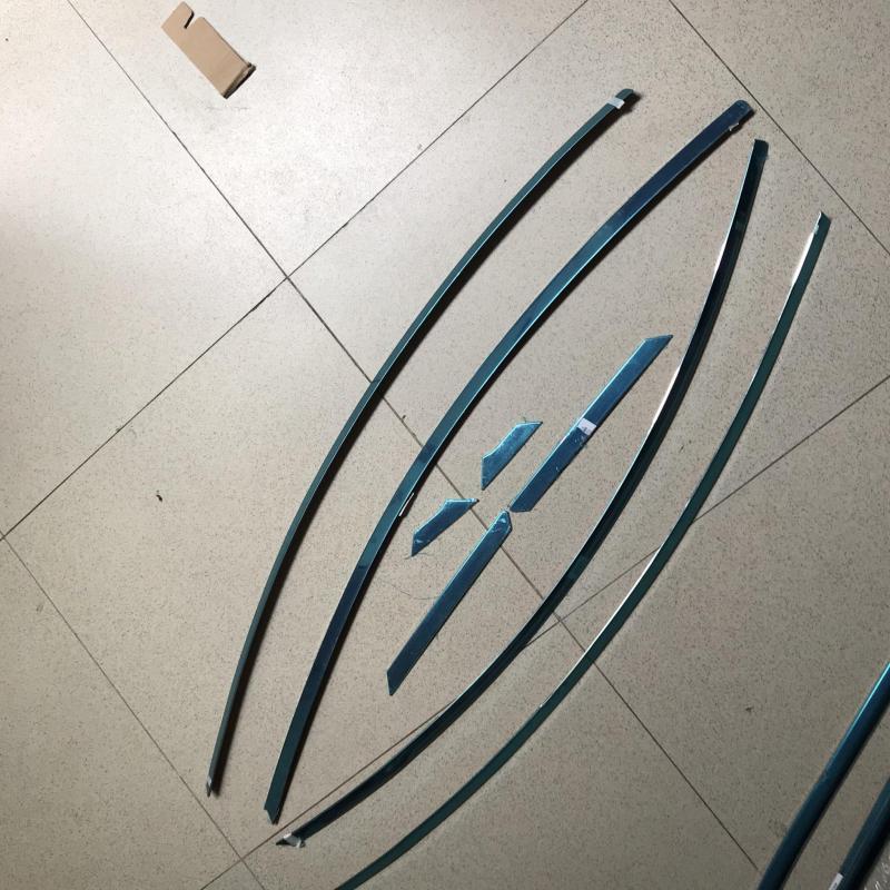 Bộ ốp nẹp viền cong kính xe Elantra form 2017-2021