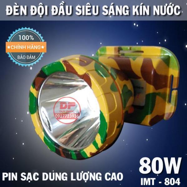 ĐÈN PIN ĐỘI ĐẦU LED SIÊU SÁNG 80W KÍN NƯỚC ( PIN DUNG LƯỢNG CAO )- IMT804