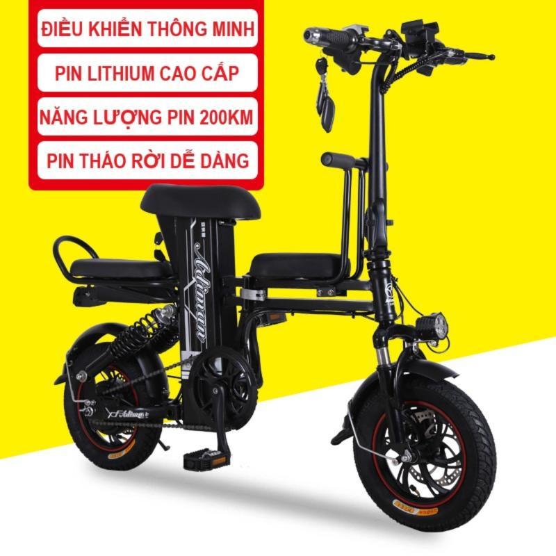 Phân phối Xe Điện Gấp Gọn ADIMAN   Xe Đạp Điện   3 Ghế Ngồi   Pin Lithium 48v-10A