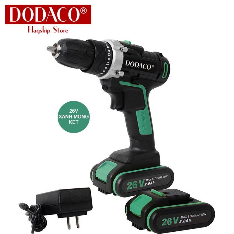 Bộ máy khoan vặn vít dùng pin nhiều mẫu DODACO DDC3204 ETOP 12V 21V 26V 19 x 19 x 5cm màu Cam Xanh