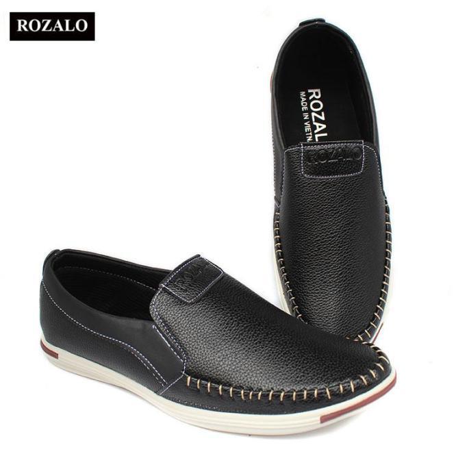 Giày lười da khâu siêu bền thời trang nam Rozalo R5732 giá rẻ