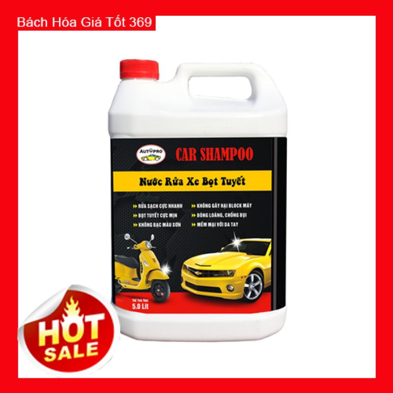 Nước rửa xe bọt tuyết Car Shampoo 5L giúp xe luôn sạch và sáng bóng BG512