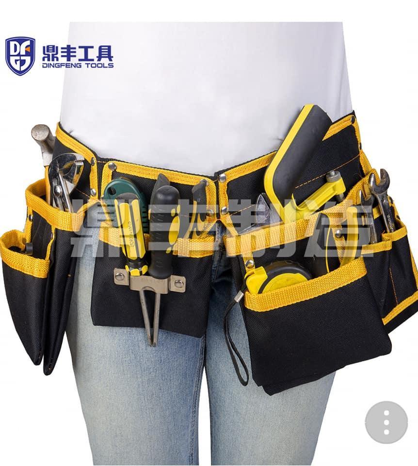 Túi Đựng đồ nghề đeo hông DINGFENG 12 túi cao cấp