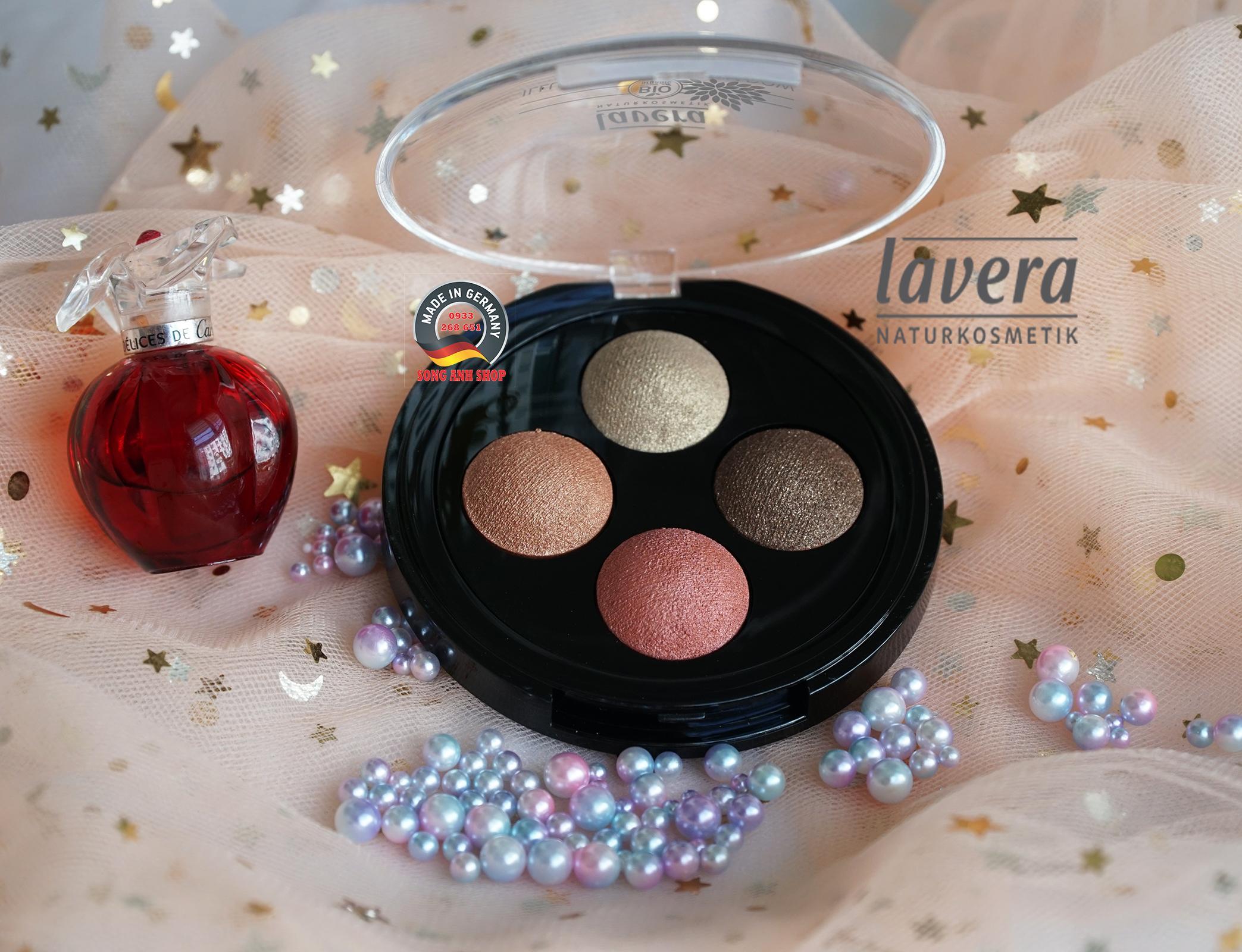 Phấn Mắt hữu cơ 4 màu Lavera số 03 Indian Dream nhập khẩu