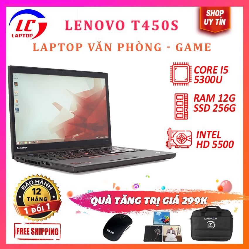 Laptop Thiết Kế Đồ Họa Giá Rẻ, Laptop Chơi Game Lenovo Thinkpad T450s, i5-5300U, VGA on Intel HD 5500,Màn 14HD, LaptopLC298