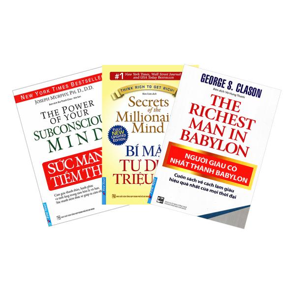 Combo 3 Sách Sức Mạnh Tiềm Thức , Bí Mật Tư Duy Triệu Phú, Người Giàu Có Nhất Thành Babylon