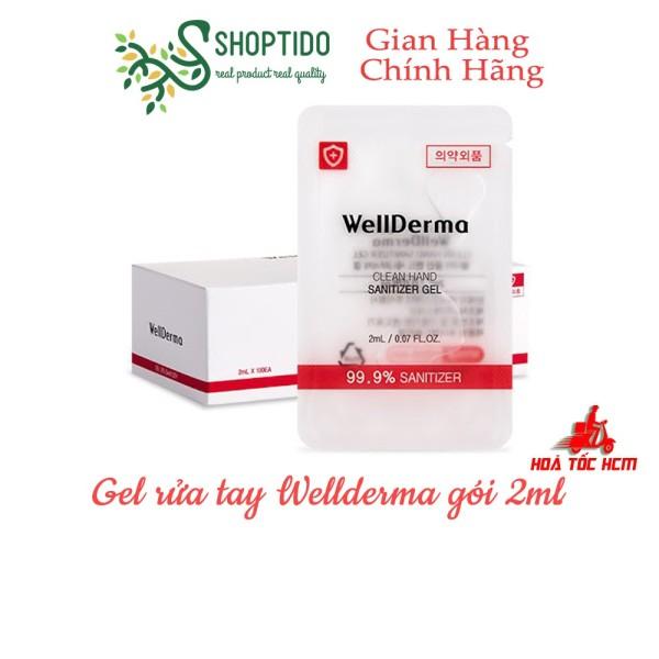 Gel Rửa Tay WellDerma Clean Hand Sanitizer Gel 2ml NPP Shoptido giá rẻ