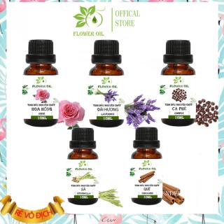 [HCM]BỘ 5 CHAI TINH DẦU THIÊN NHIÊN FLOWER OILS CAO CẤP TINH DẦU SẢ, LAVENDER, QUẾ, CÀ PHÊ, HOA HỒNG- giúp khử mùi, thanh lọc không khí, làm thơm phòng, đuổi muỗi hiệu quả -10ml thumbnail