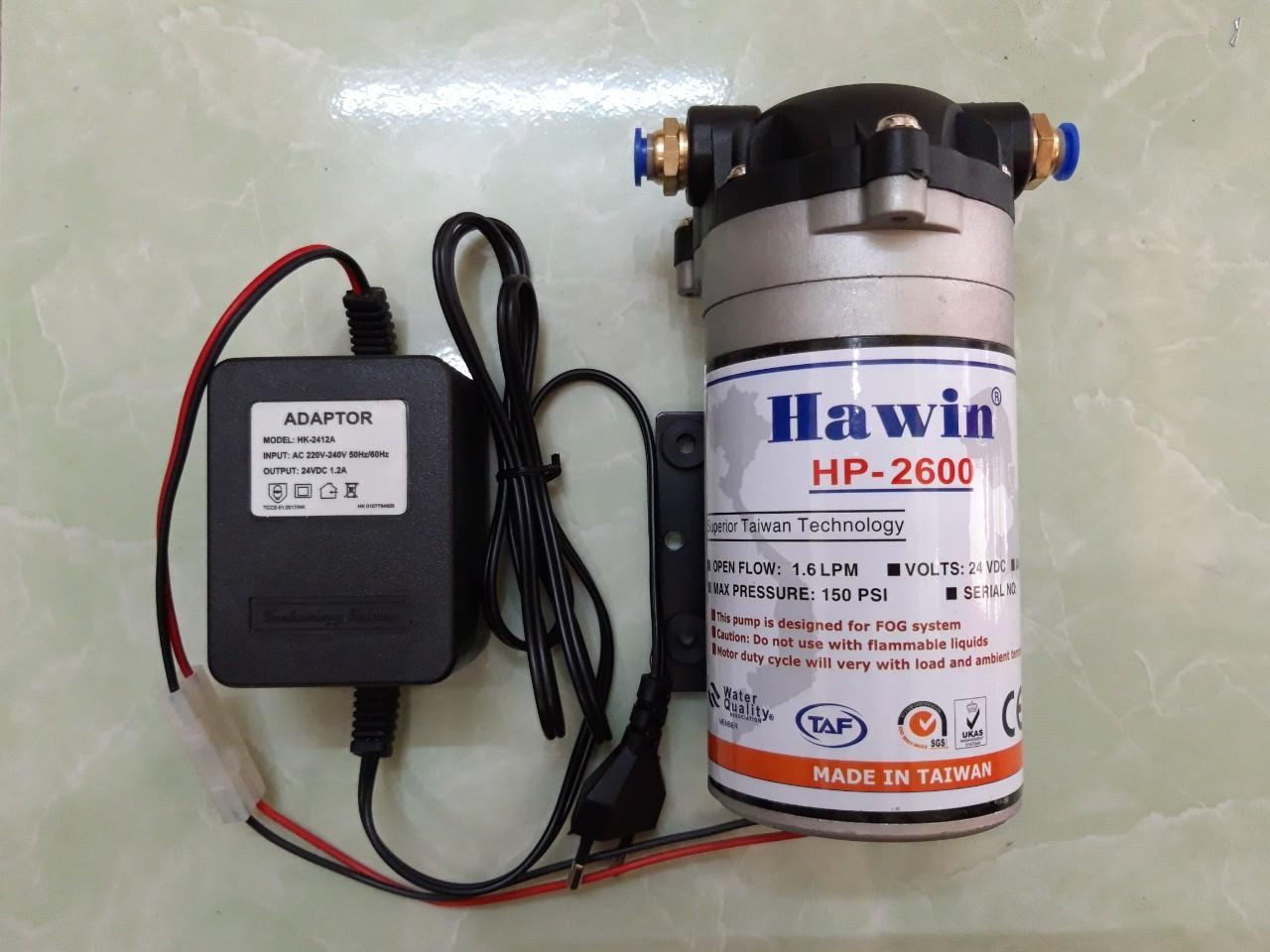 Máy phun sương Đài Loan Hawin HP-2600 (phun được 15-25 béc)