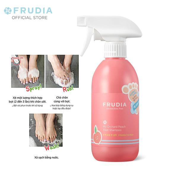 [TẶNG 66K]Dung Dịch Rửa Chân Khử Mùi Và Làm Sạch Hương Đào Frudia My Orchard Peach Foot Shampoo 390ml giá rẻ