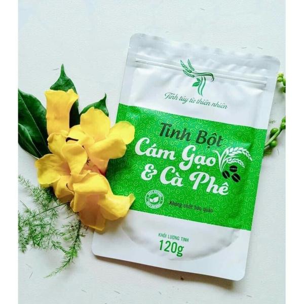 Tinh bột cám gạo cà phê Handmade 120g ( tẩy tế bào chết , giảm mụn lưng,viêm nang lông)
