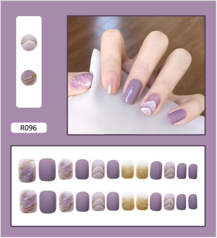 Móng tay giả 💖kèm keo💖 đẹp làm nail / R081-100/ giá rẻ